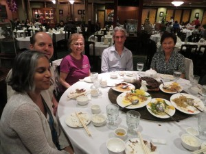 L-R: Sharon (the manager), Dominic, Jeannette Johnson (EMH Board Member), Avi Stein, Yvonne Hsieh (EMH Board member)åç