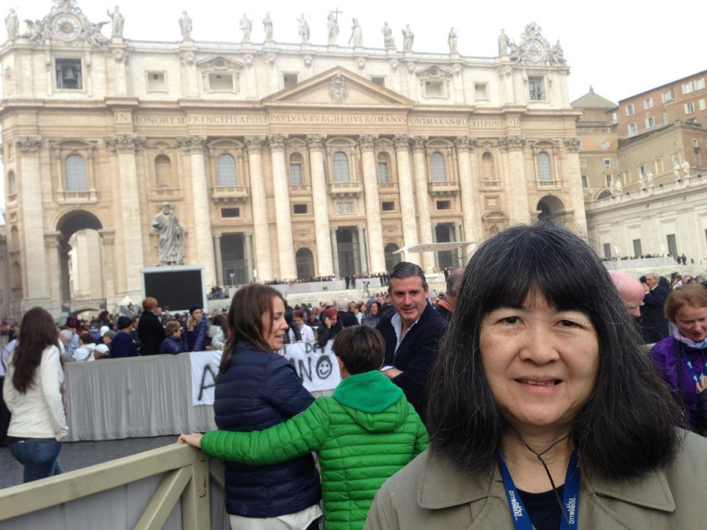 KC in St. Peter's Square