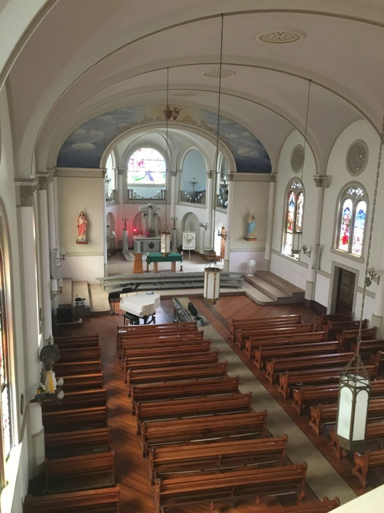 Interior of Sacred Heart Academy chapel