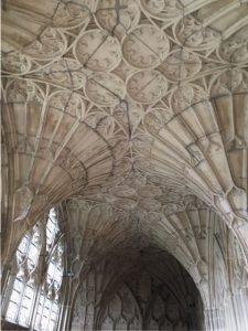 The fan vaulted ceiling at Gloucester